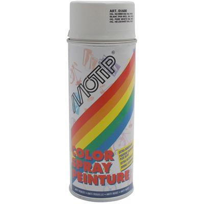 Bombe de peinture MOTIP GLYCERO BRILLANT Blanc Pur 400ml