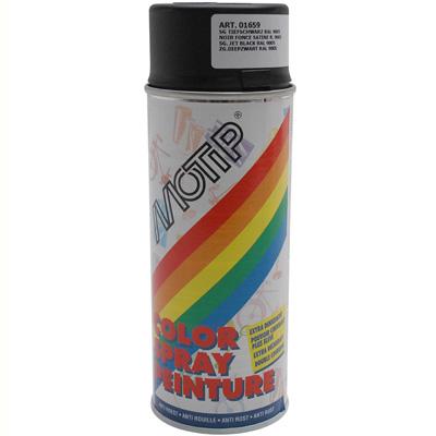 Bombe de peinture MOTIP GLYCERO SATIN Noir Profond 400ml
