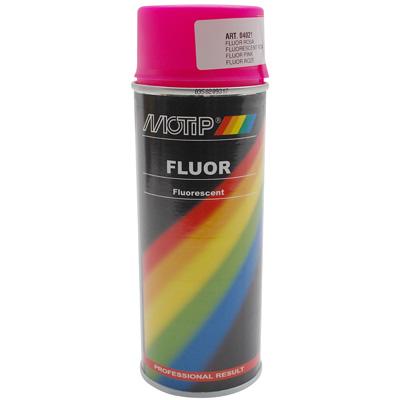 Bombe de peinture MOTIP PRO FLUO Rose 400ml