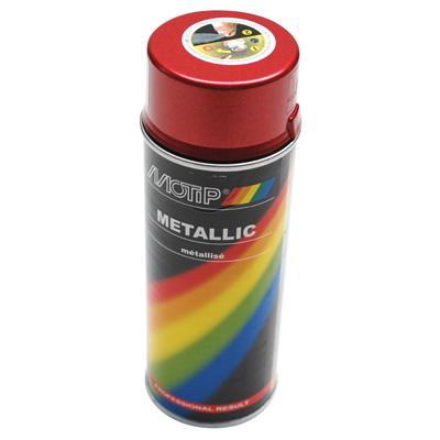Bombe de peinture MOTIP PRO METAL Rouge 400ml
