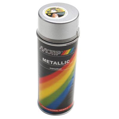 Bombe de peinture MOTIP PRO METAL Argent 400ml