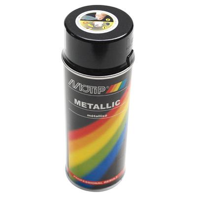 Bombe de peinture MOTIP PRO METAL Noir 400ml
