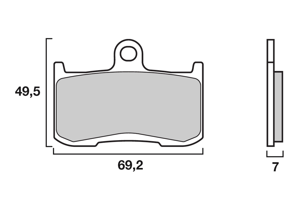 Plaquettes de frein BREMBO 07KA23SA 100% Métal Sintered - (Etrier NISSIN)
