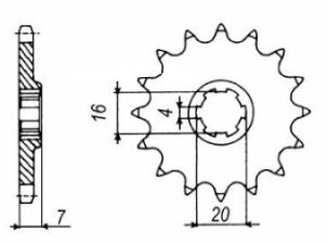 Pignon de sortie boite Suzuki SMX-RMX 1999-2002 13 dents