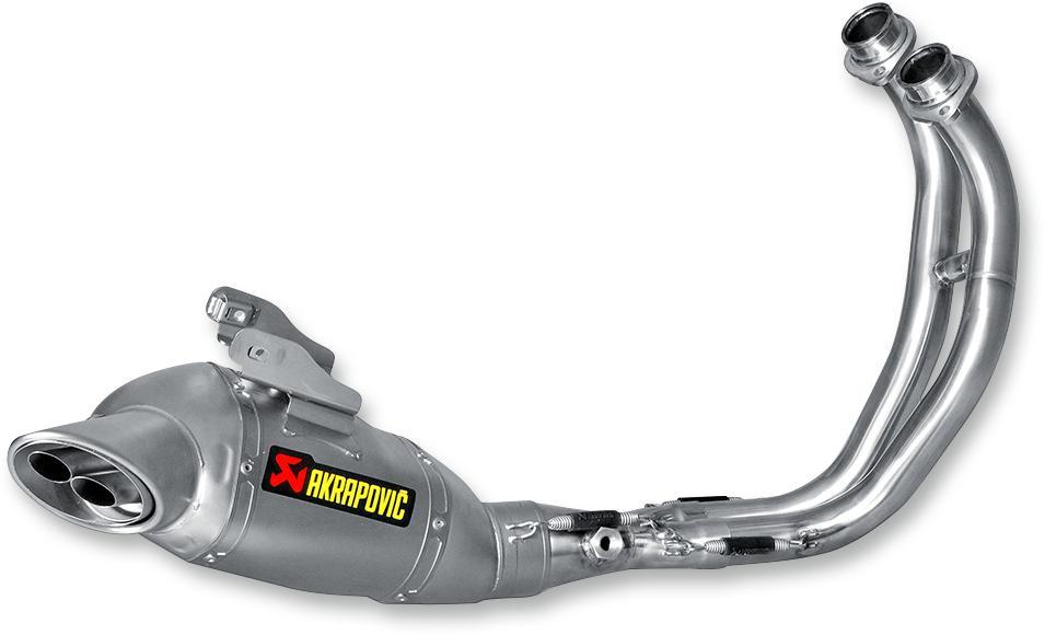 Echappement AKRAPOVIC Yamaha MT-07 Ligne complète Acier Inox / Titane