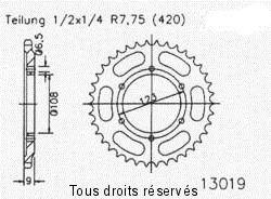 Couronne Cagiva 50 Mito 1998-1999 / Derbi 50 GPR 1998-2003 (52 dts)
