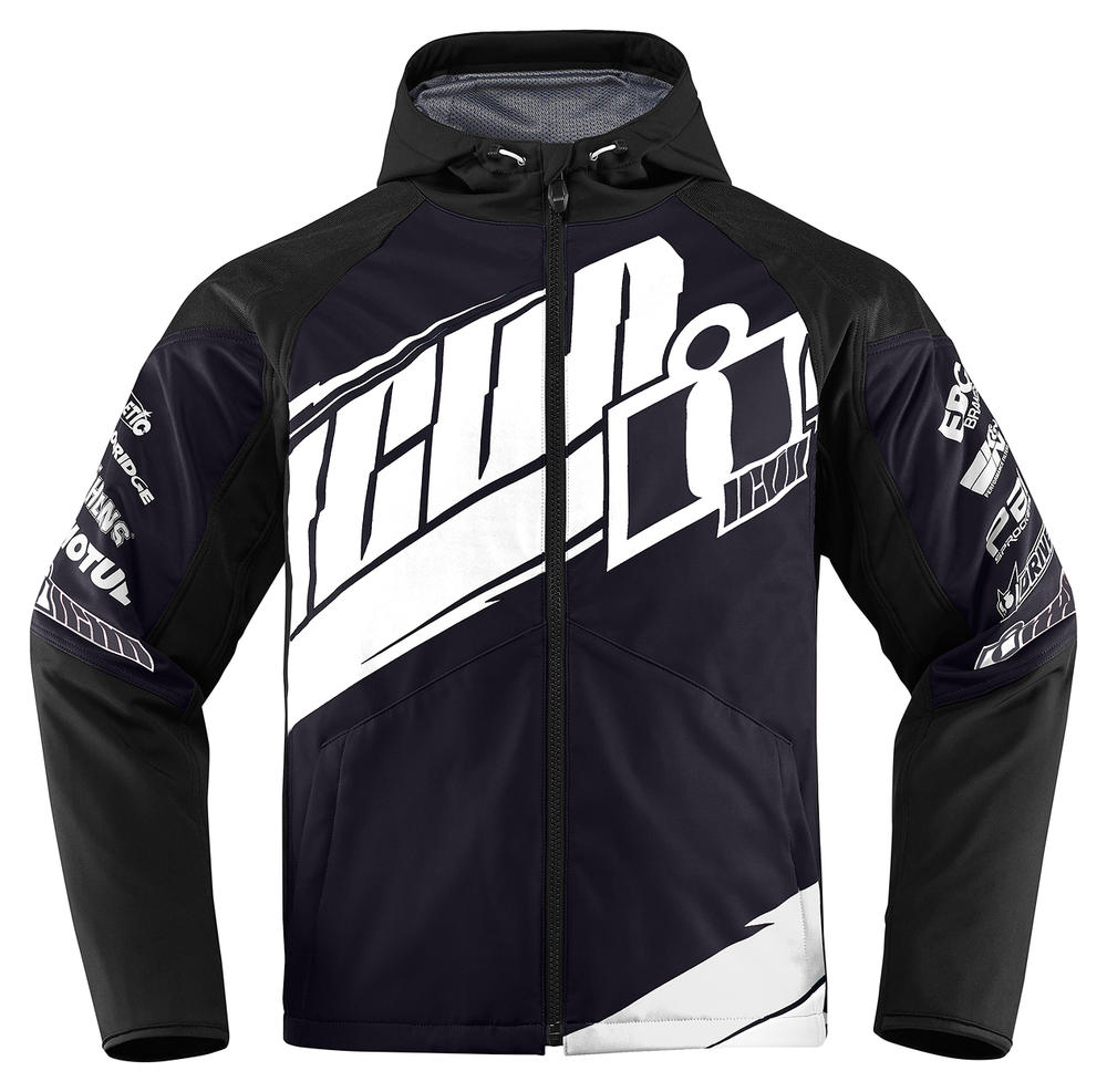 BLOUSON MOTO ICON TEAM MERC NOIR MD
