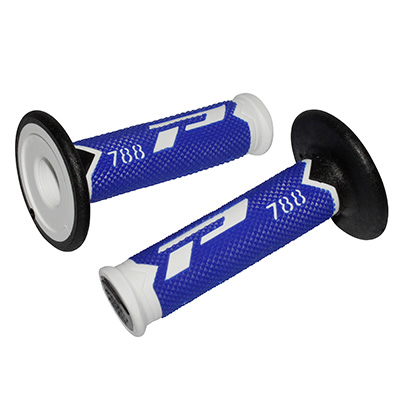 Poignees ProGrip 788 Bleu / Blanc / Noir (La paire) - Cross 115mm