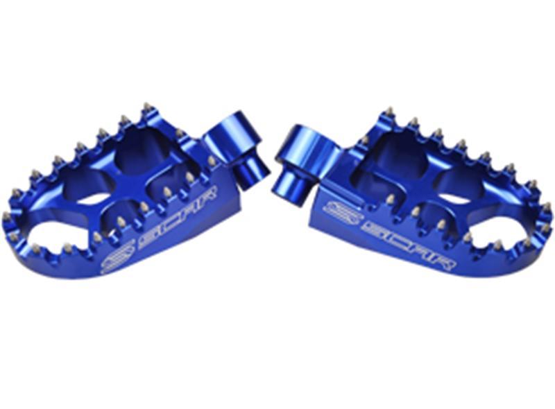 Repose Pied Evo KTM 125+ SCAR Bleu