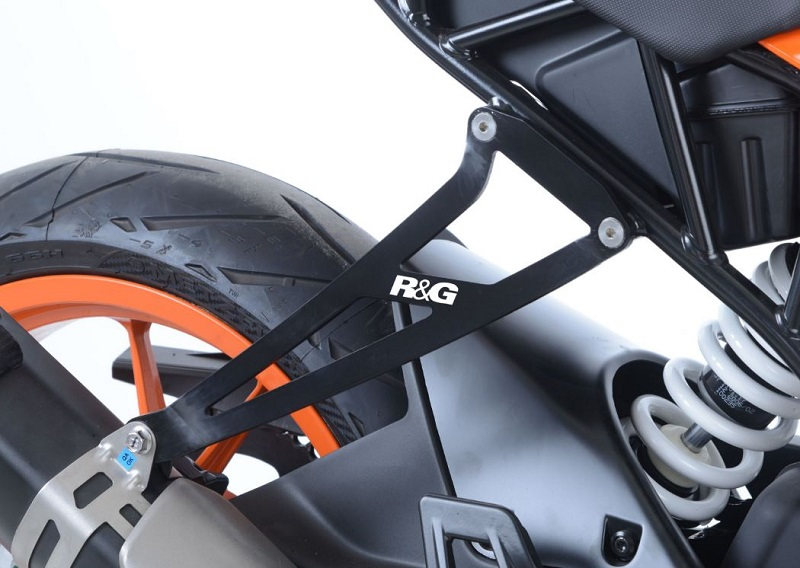 Patte de fixation silencieux KTM 125 / 390 RC Noir RG RACING
