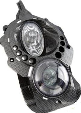 Optique de phare Ludix tuning a Led Carbone
