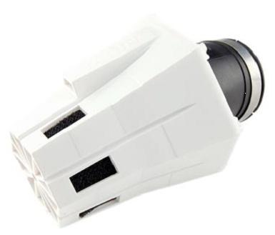 Filtre à air Conique Blanc carburateur D28 et 35mm, coude à 30°