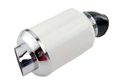Filtre a air Muffler coude 45° Blanc