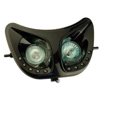 Optique de phare Derbi Xtreme Noir (avec LEDS)