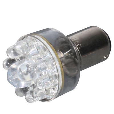 Lampe 12V 21/5W type BAY15D LED Rouge (culot rouge) - Unitaire