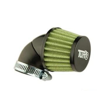 Filtre a air conique KN orientable noir / vert (petit modele)