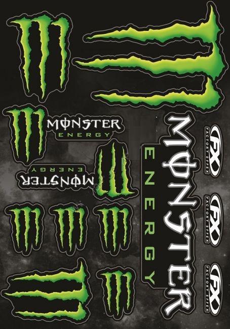 Autocollant Monster Energy Taille XL (13 autocollants)