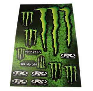 Autocollant Monster Energy Taille XL (14 Autocollants)