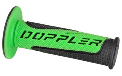 Poignees Grip Radical Doppler Noir / Vert (La paire)