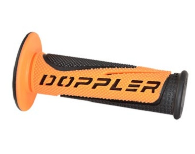 Poignees Grip Radical Doppler Noir / Orange (La paire)