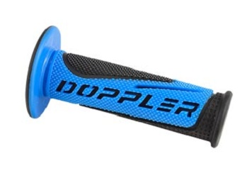 Poignees Grip Radical Doppler Noir / Bleu (La paire)