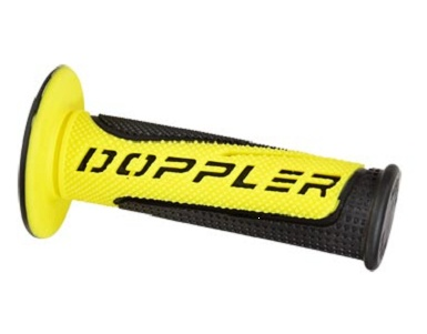 Poignees Grip Radical Doppler Noir / Jaune (La paire)