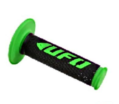 Poignees Grip Challenger UFO Noir / Vert (La paire)