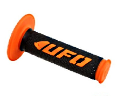 Poignees Grip Challenger UFO Noir / Orange (La paire)