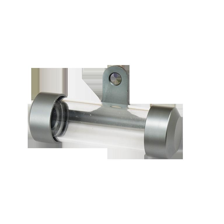 Porte vignette assurance tube gris aluminium