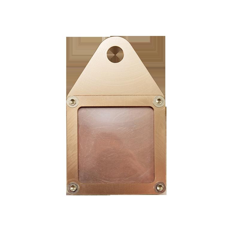 Porte vignette alu Titane carré
