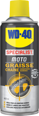 Graisse chaine WD-40 SPECIALIST MOTO Conditions Humides (400ml)