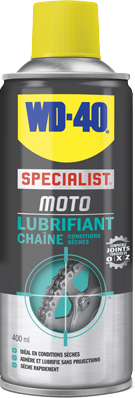 Lubrifiant chaine WD-40 SPECIALIST MOTO Conditions Seches (400ml)