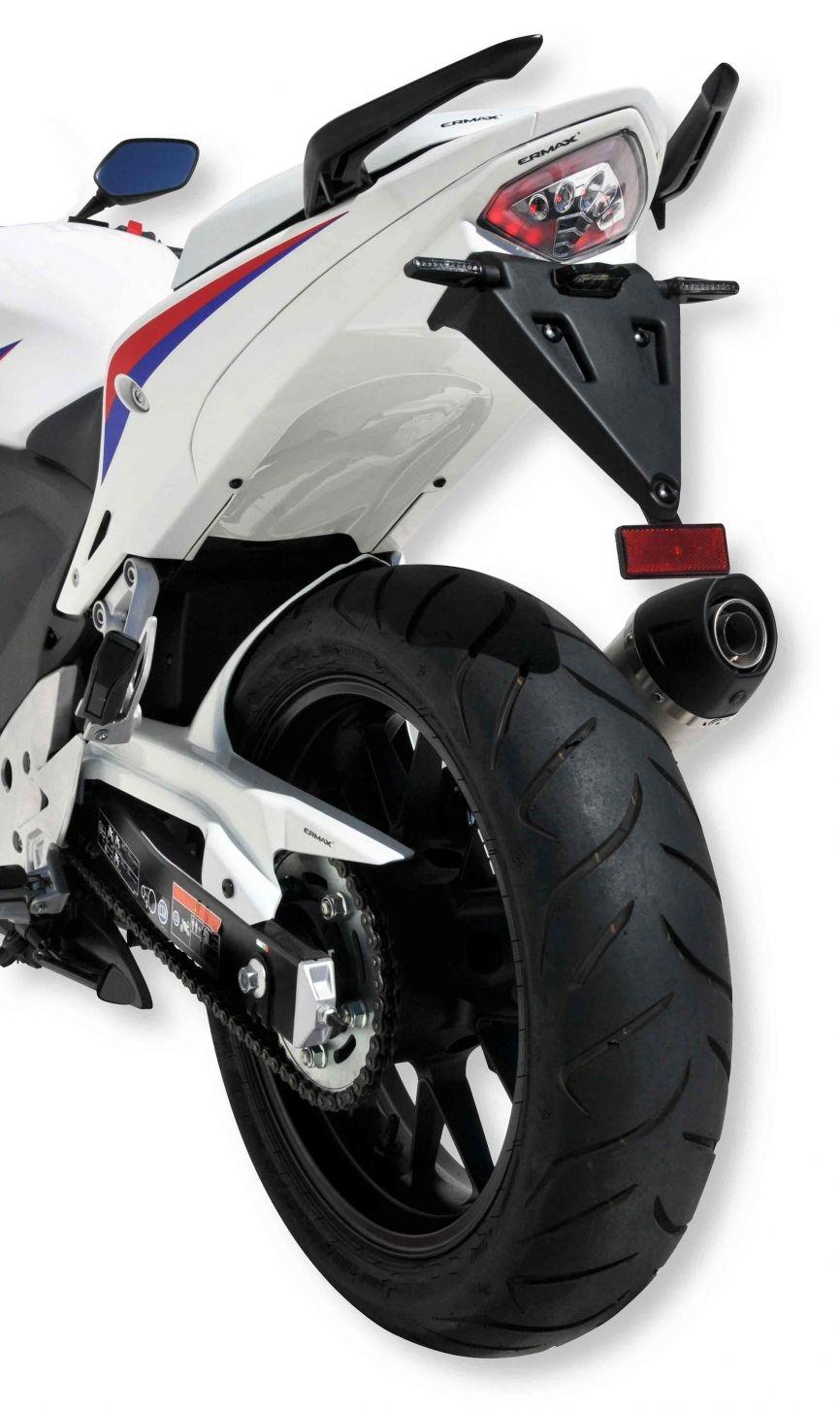 Passage de Roue Honda 500 CBF 2013-2015 + Eclairage Plaque et Support de Plaque ABS Brut