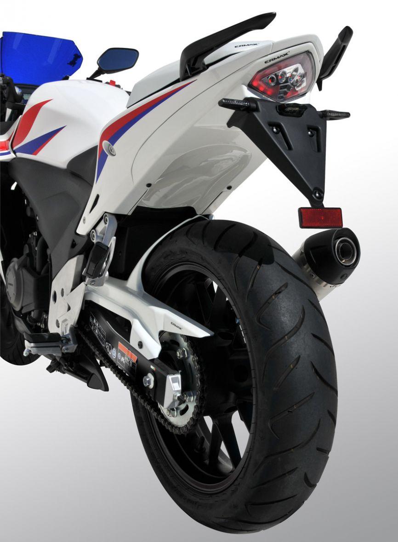 Passage de Roue Honda 500 CBR R 2013-2015 + Eclairage Plaque et Support de Plaque ABS Brut