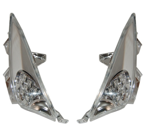 Clignotants Yamaha Tmax 2008-2011 (LED chrome - transparent)