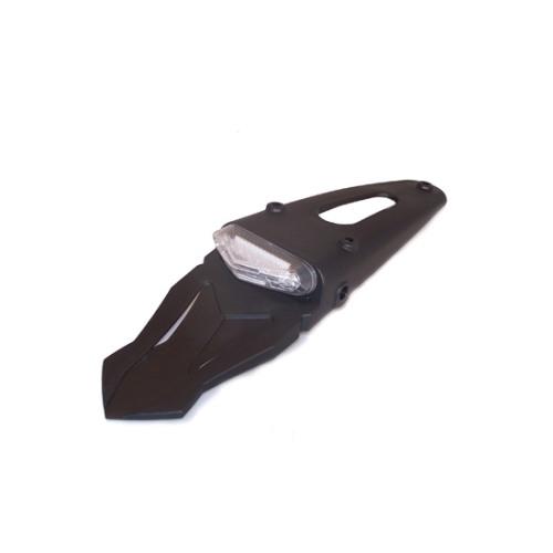 Bavette arriere enduro avec feu transparent à diodes