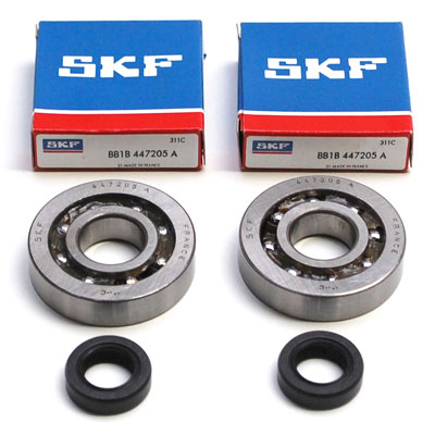 Roulement D'Embiellage + Joint Adaptable PEUGEOT 50 Fox (Kit Sc04A47Cs Skf Polyamide)