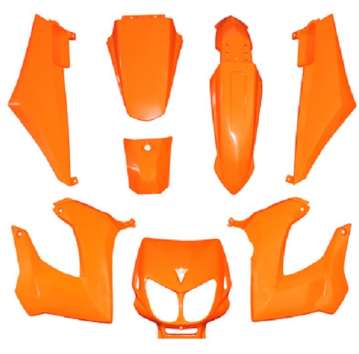 Kit carenages Derbi Senda Xtreme / Xrace (Orange)