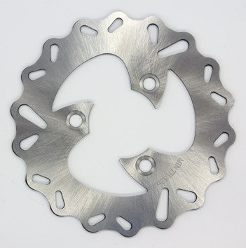 Disque de frein D190X70.5x58.2mm festonne (3 trous D10.5mm) epaisseur 4mm