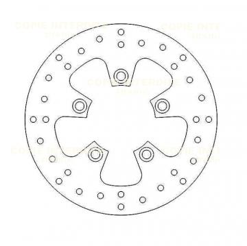 Disque de frein D155 X 61 X 41mm (3 trous D10.5mm) epaisseur 3.5mm