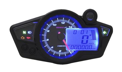 Compteur de vitesse multifonctions RX1N+ GP STYLE II - Montage universel (noir)