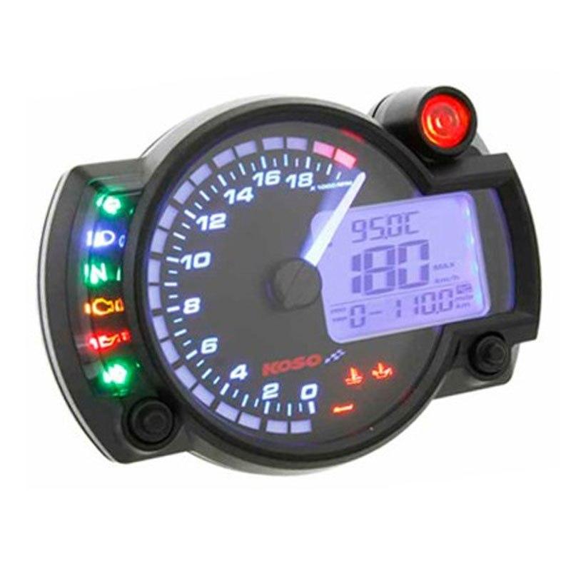 Compteur de vitesse multifonctions KOSO RX2N+ GP STYLE - Montage universel