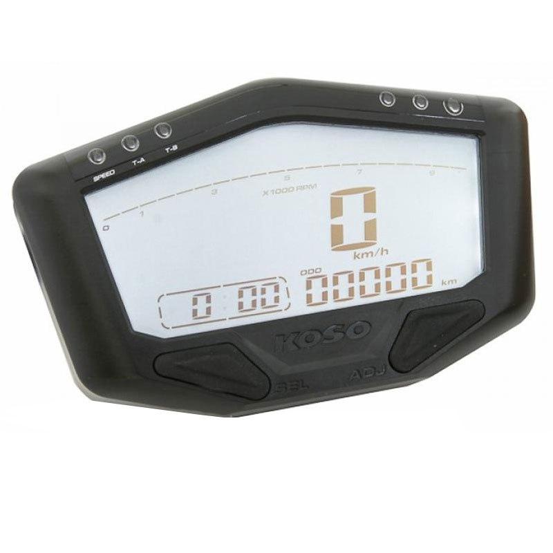 Compteur de vitesse multifonctions KOSO DB-02R - Montage universel (noir)