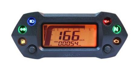 Compteur de vitesse multifonctions KOSO DB-01R+ - Montage universel (noir)