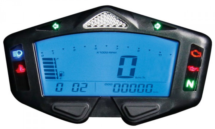 Compteur de vitesse multifonctions KOSO DB-03R Racing - Montage universel (noir)