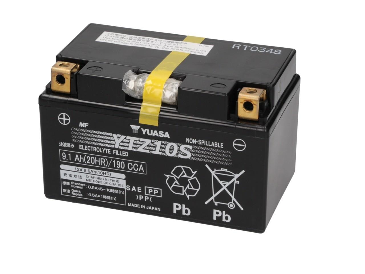 Batterie 12V YTZ10S YUASA (Prête à monter)