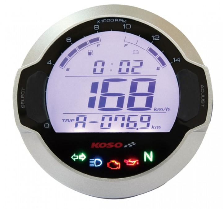Compteur de vitesse digital LCD multifonctions KOSO D64 GP STYLE - Montage universel (Rond)