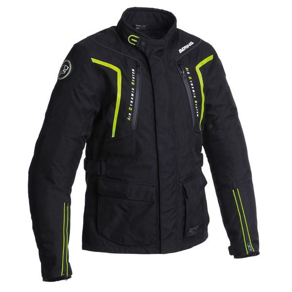 Veste Moto BERING RALF Noir / Jaune Fluo Taille S