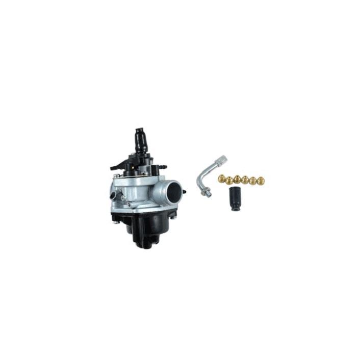 Carburateur adaptable D17.5mm PHVA - avec 5 gicleurs + coude