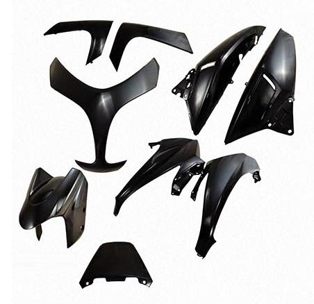 Kit carenages Yamaha 500 Tmax 2008-2011 (Noir - 9 pieces)